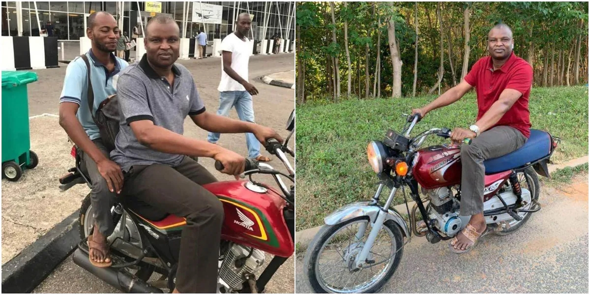 Highly Respected Police Officer Abba Kyari Rides Okada on Street Without Security, Photos Cause Stir