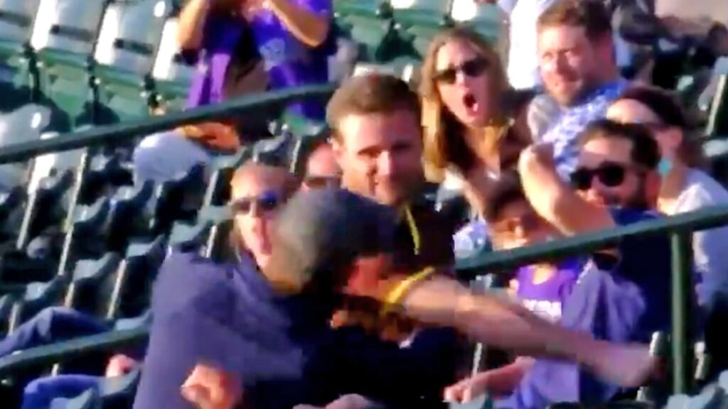 Padres Fan Knocks Out Rockies Supporter With Violent Punch Caught On Video