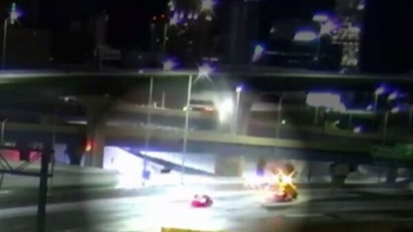 Horror moment woman plunges 70ft off bridge in her car but miraculously is unhurt