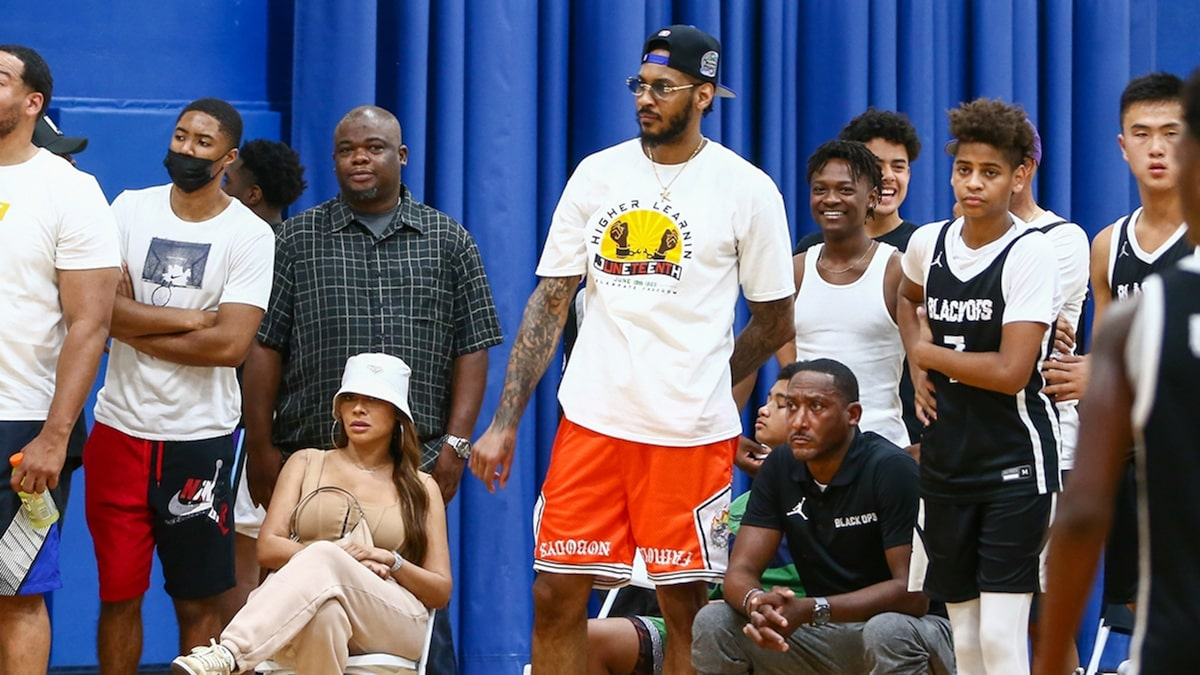 La La Anthony and Carmelo Attend Son's Basketball Game After Divorce