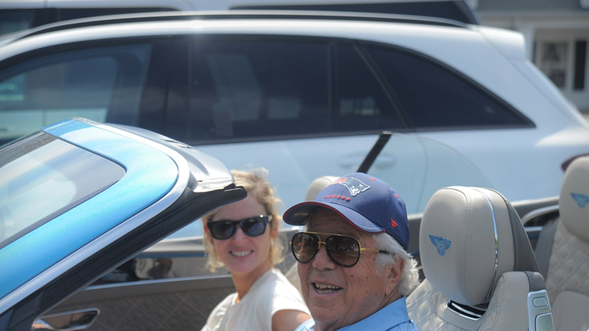 Robert Kraft Takes GF For a Spin in New Ultra-Rare Bentley, Best Bday Gift Ever?!