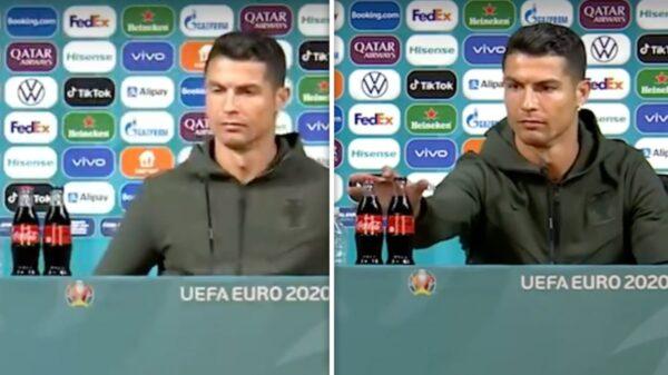 Cristiano Ronaldo Upset at Coke Bottles At Euro 2020 Podium, Drink Water!