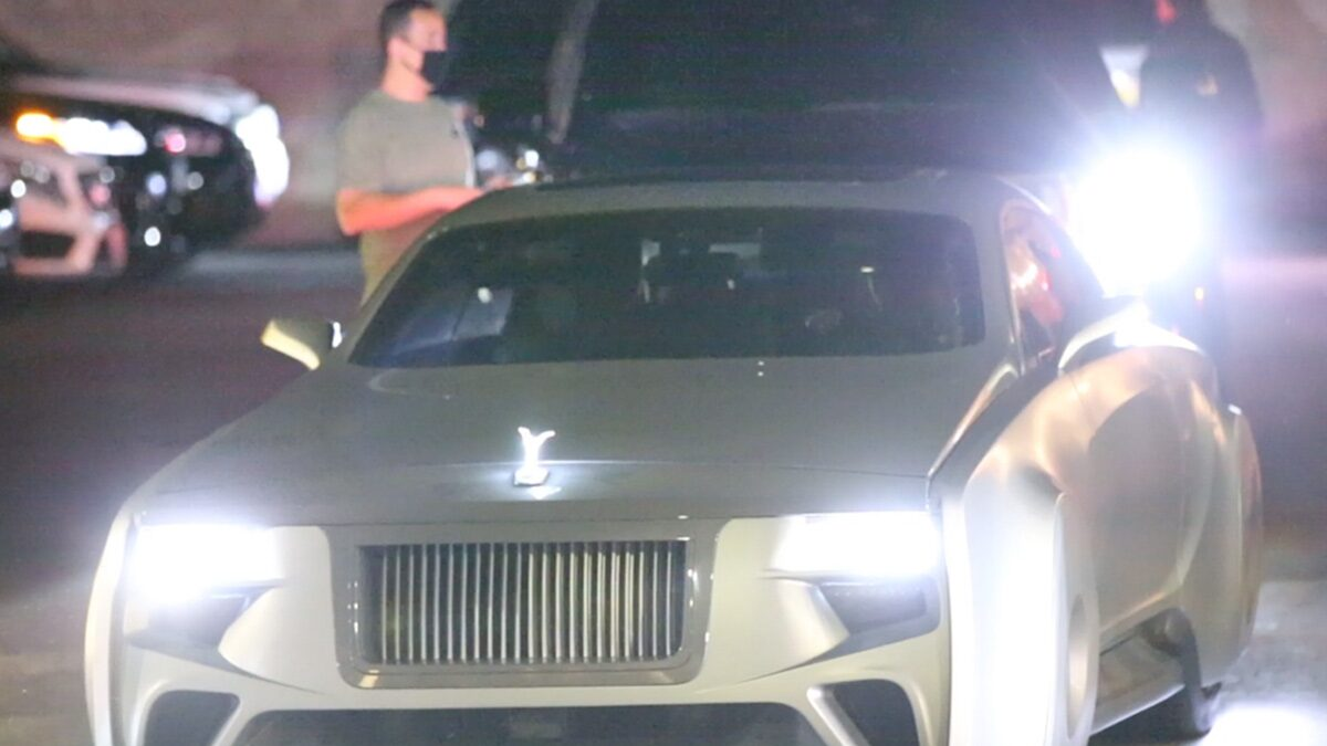 Justin Bieber Takes Hailey Out in His Futuristic Rolls-Royce