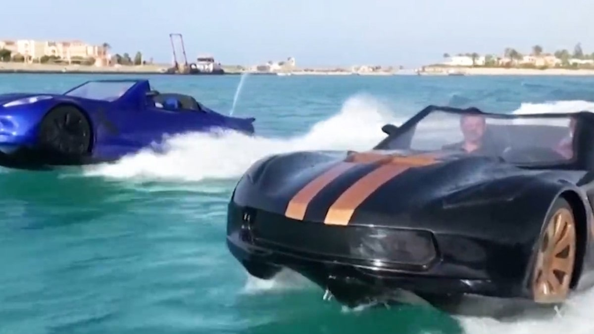 Car-Shaped Boat Cruises the Waters of Egypt
