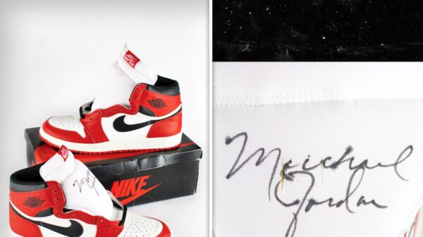 Michael Jordan's Signed 'Player Sample' AJ1's Up For Auction, Could Fetch $250k