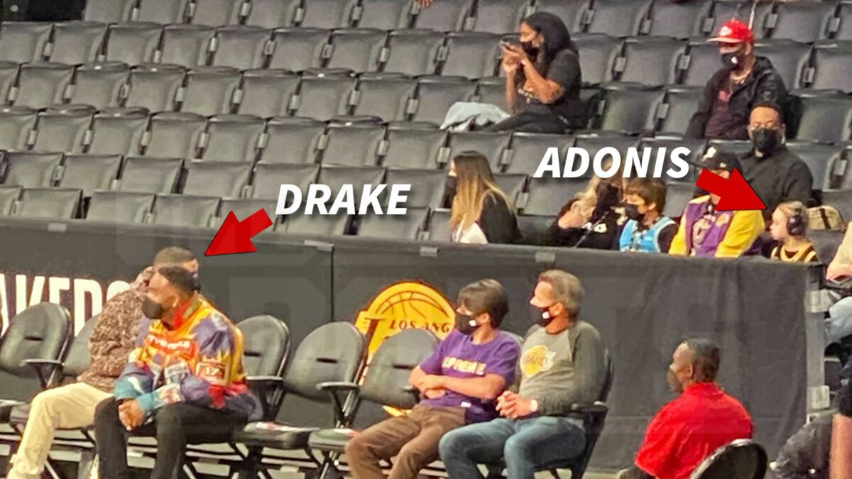 Drake Brings Adonis to Lakers Playoff Game but They Sit Separately