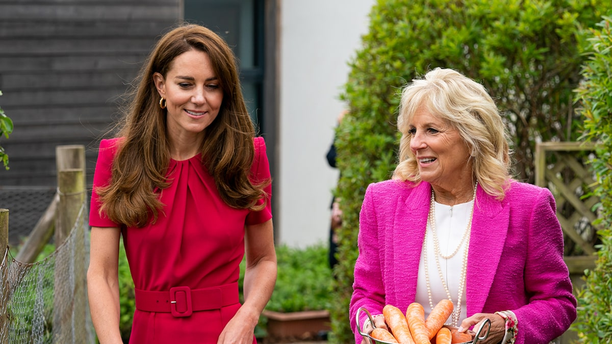 Jill Biden, Kate Middleton Meet for the First Time, Tour School
