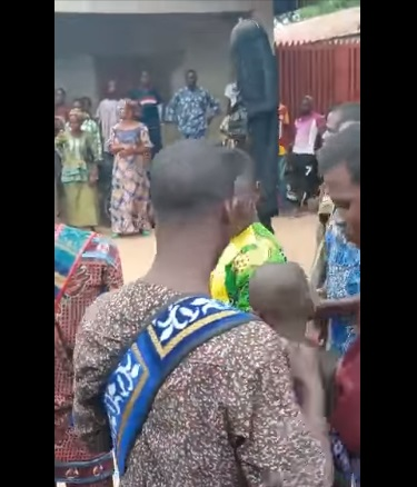 Masquerade Failed By His 'Juju' As Bullets Penetrate His Body During Festival in Oyo (Video)