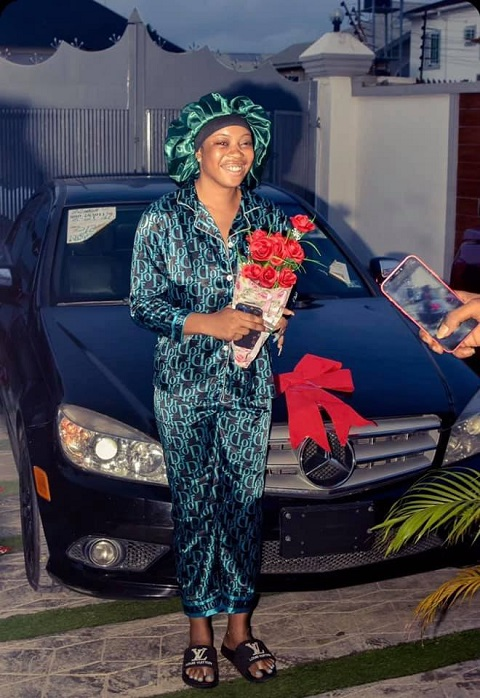 Man Rewards Girlfriend Who Stood By Him When He Was Broke, Buys Her A Car (Photos)