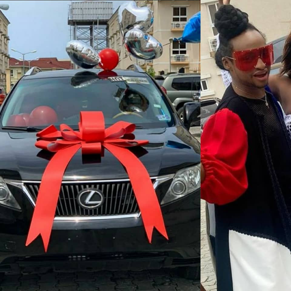 Wow! Friends Gift Media Personality, Denrele Edun, A Lexus SUV As His 40th Birthday Present (Photos/Video)