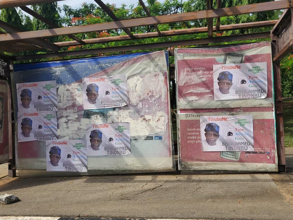 Bola Tinubu's 2023 Presidential Posters Flood Abuja Streets (Photo)