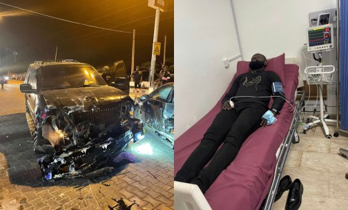 Yomi Casual Escapes Death After Car Accident, Hospitalized (Photo)