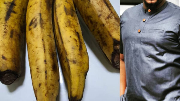 Nigerians In Shock As Actor, Mofe Duncan Says This Bunch of Plantain Cost N6000 (Photo)