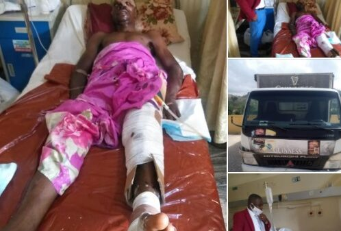 VIO Official Fights For His Life After Getting Hit By Speeding Truck (Photos)