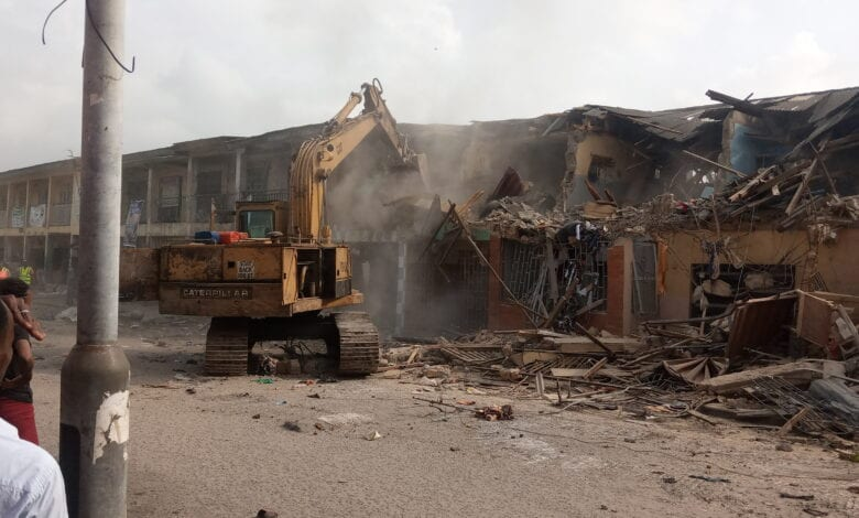Traders Cry As Lagos FHA Demolishes Agboju Market, Buildings In FESTAC