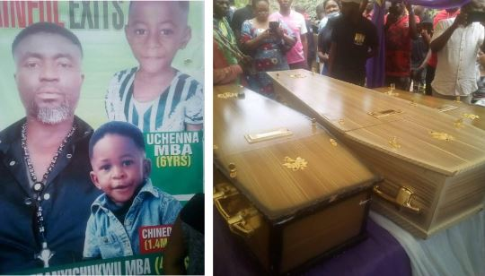 Nigerian Man And His Two Children Who Died In Fatal Car Crash In South Africa Laid To Rest (Photos)