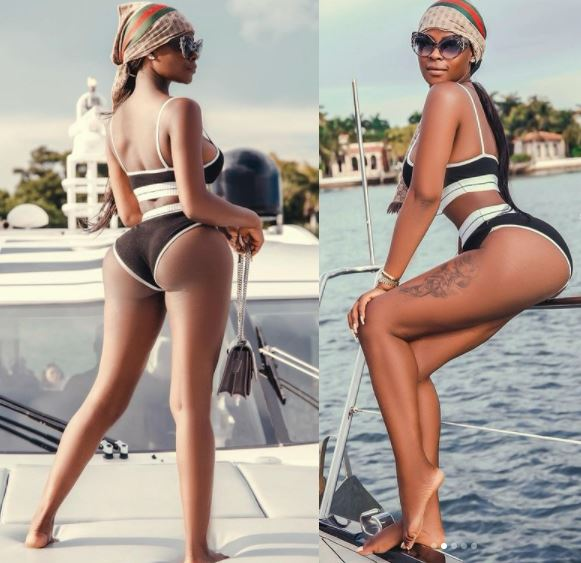 BBNaija Star, Khloe Flaunts Her Banging Body As She Poses On A Yacht (Photos)