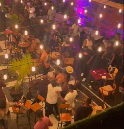 Drama As Fight Breaks Out At Ghanaian Bar Over A Seat (Video)