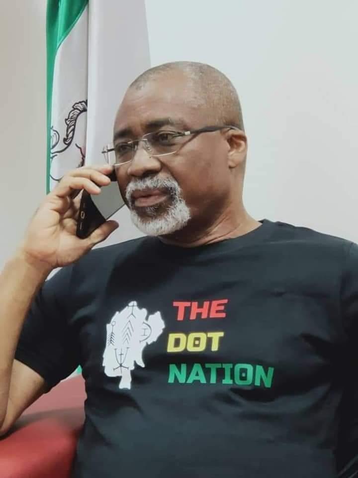 Senator Abaribe's Alleged Arrest Over 'Dot Nation' Shirt