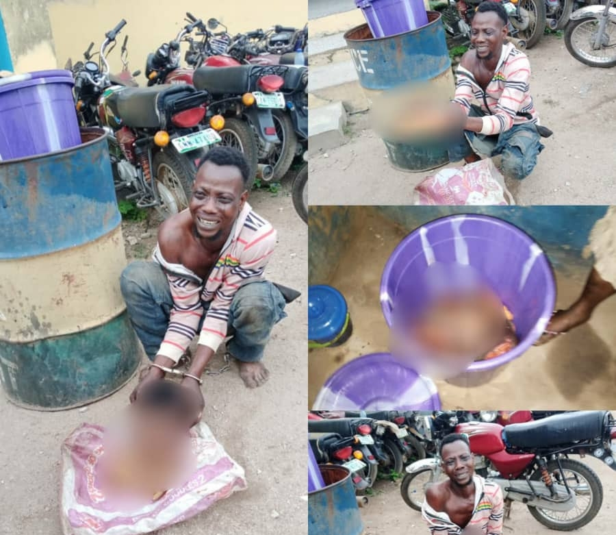 Man, arrested ,dismembered body, young lady ,Osun ,