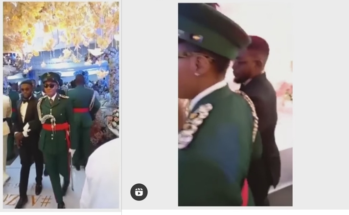 Female Soldier Marries Civilian In Military Parade