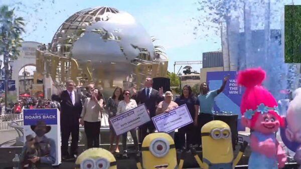 Gov. Gavin Newsom Announces CA Reopening at Universal Studios