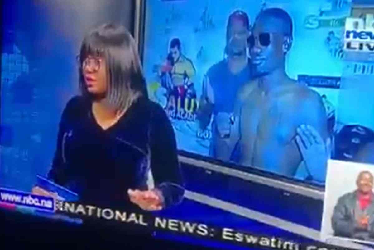 Watch The Main News Anchor Who Reminds Jessica They're Live Laughing At Her Afterwards
