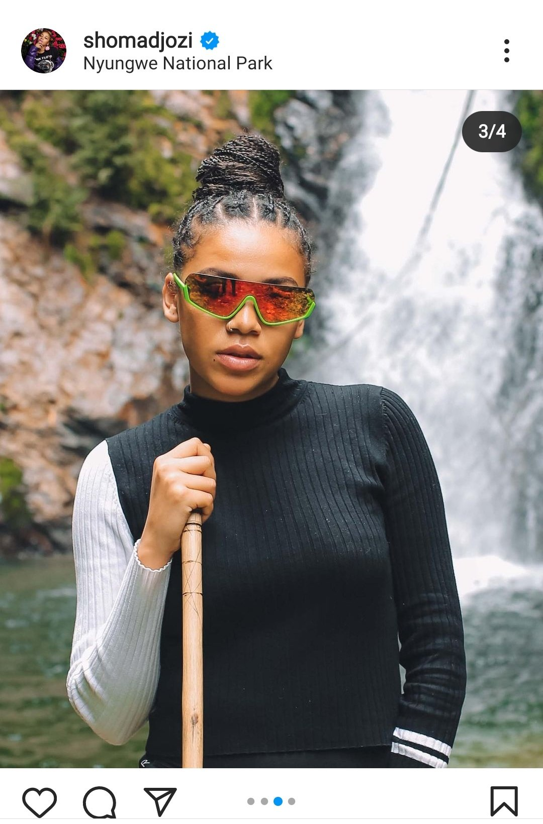 Sunglass Reflection Shows Show Majozi And Maps Maponyane Are Dating