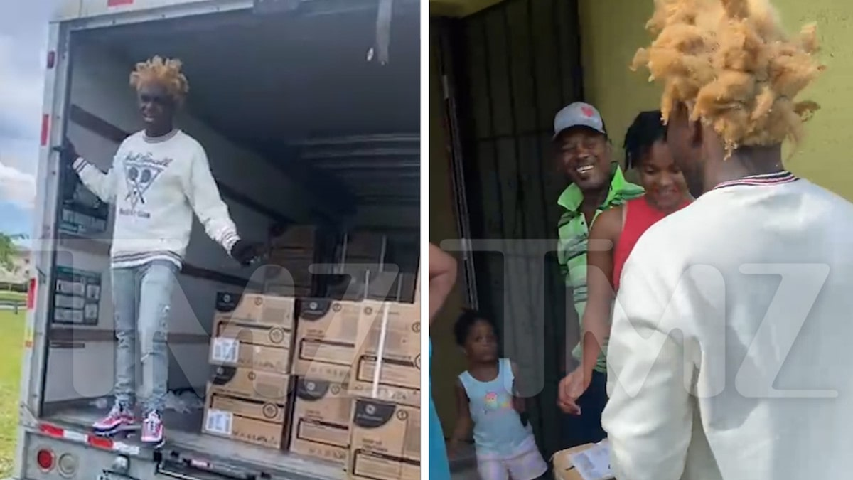 Kodak Black Gifts Air Conditioning Units to Housing Project Residents