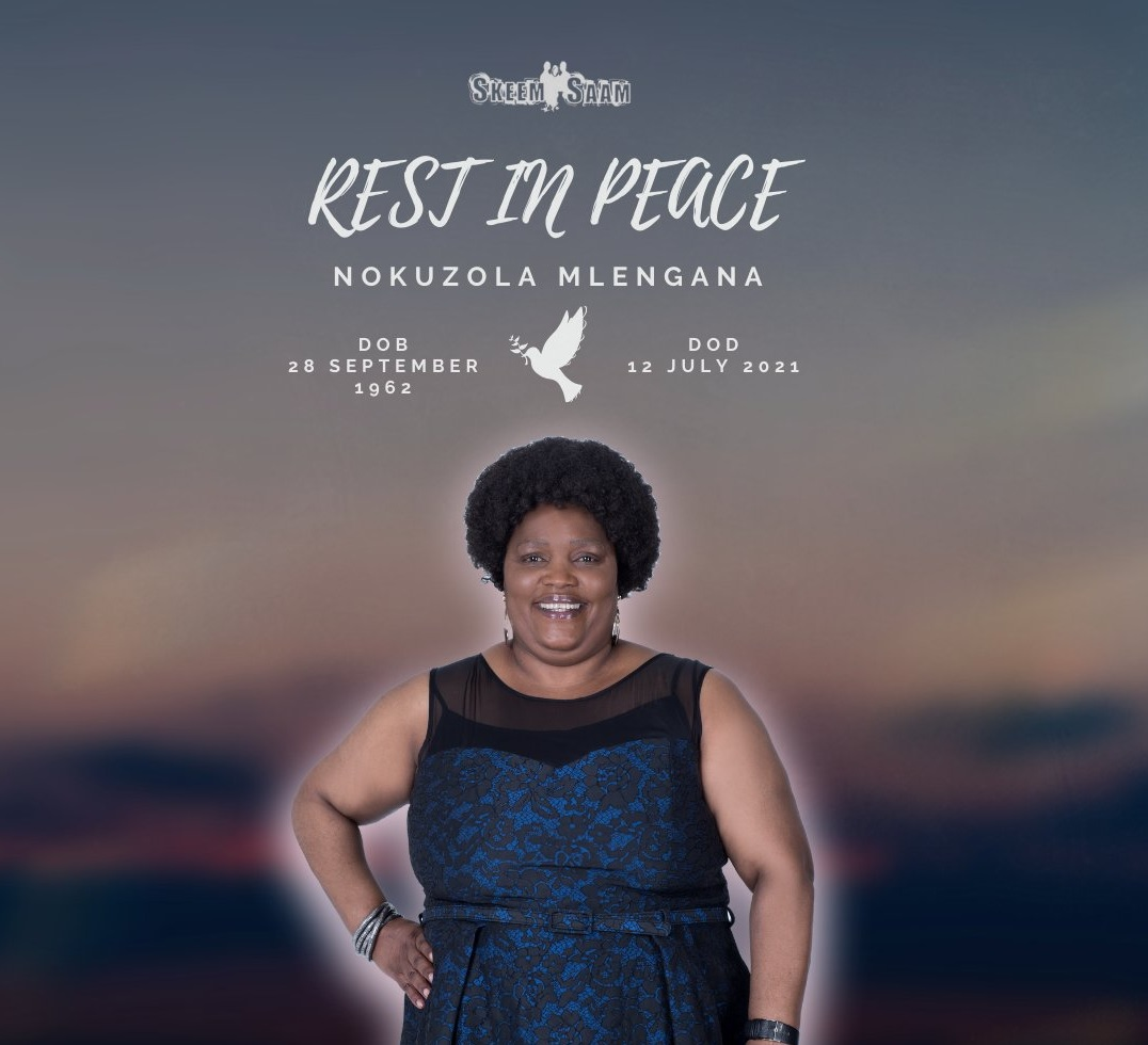 "Skeem Saam Actress Nokuzola Mlengana ""Sis Ouma"" Has Died"