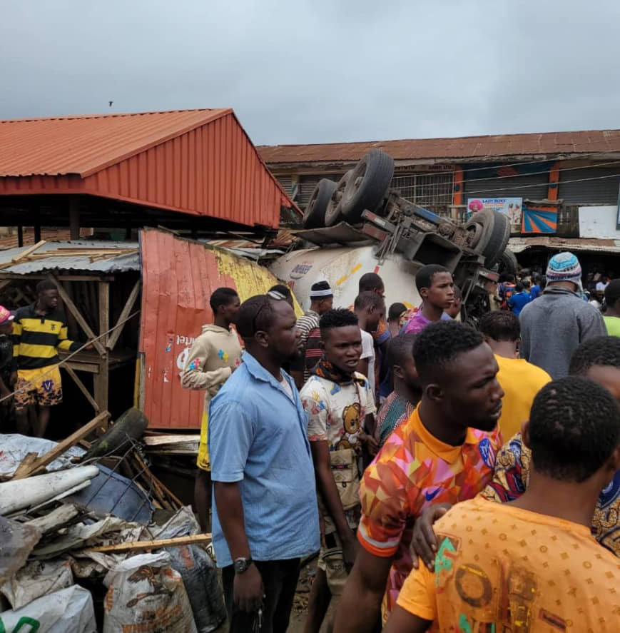Tanker Crushes 10 To Death In Ibadan Market