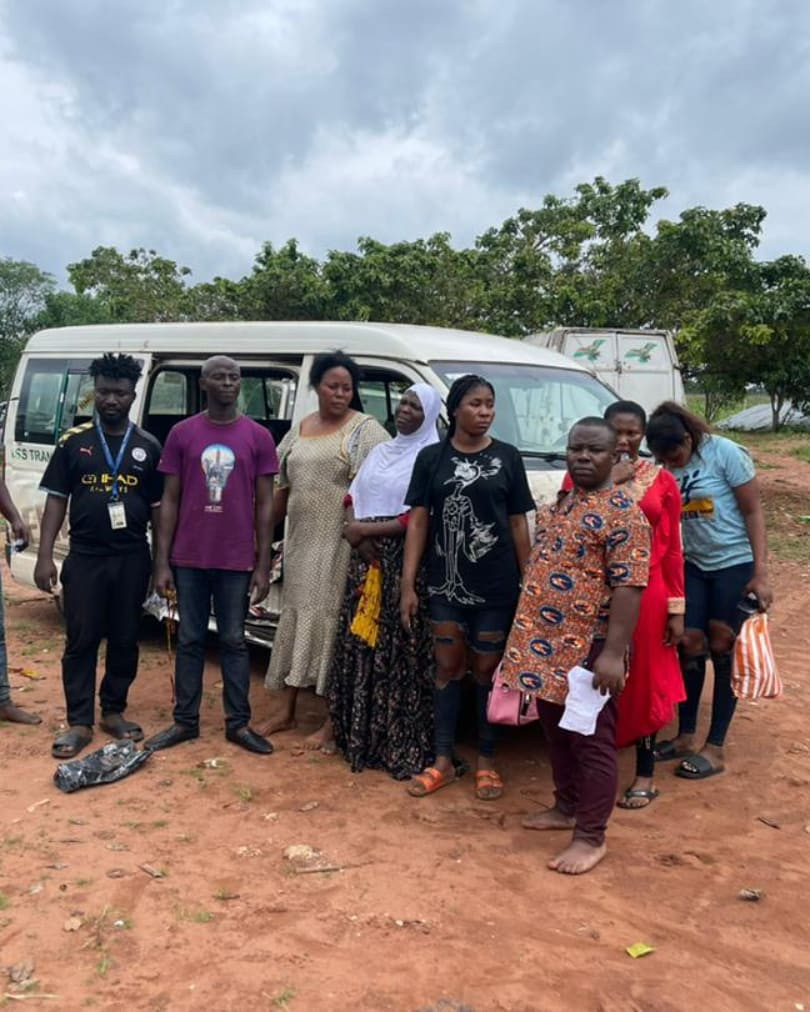 Police Rescue 9 Abducted Travellers After Gun Duel With Kidnappers in Edo (Photos)