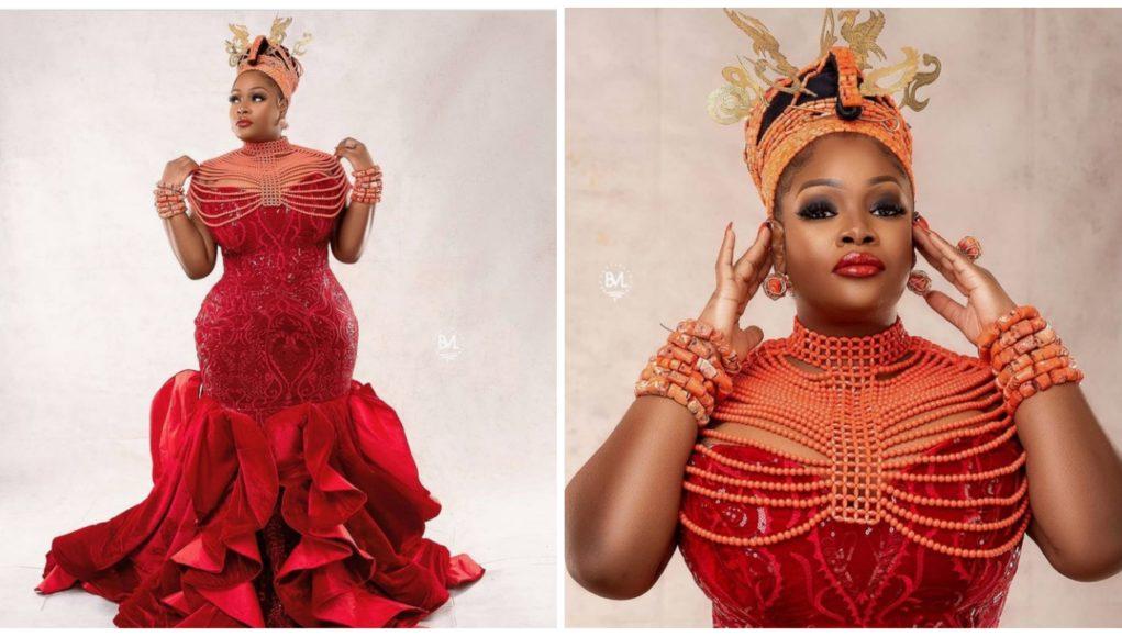 OAP Toolz Celebrates 39th Birthday Dressed As An 'Edo Bride' (Photo)