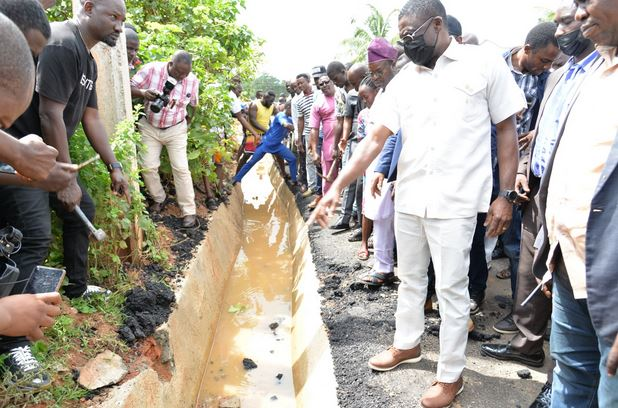 Edo State Govt Takes Over Road Construction Allegedly Being Built With Substandard Materials