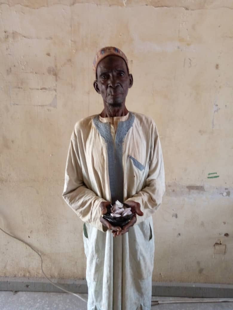 90-year-old Man Arrested For Selling Drugs to Youths in Katsina (Photo)