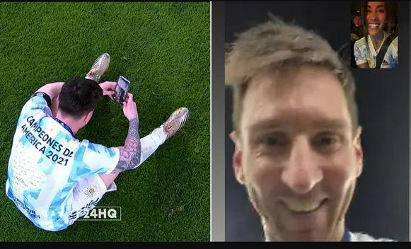 Messi Video Calls His Wife To Celebrate Argentina's Copa America Win