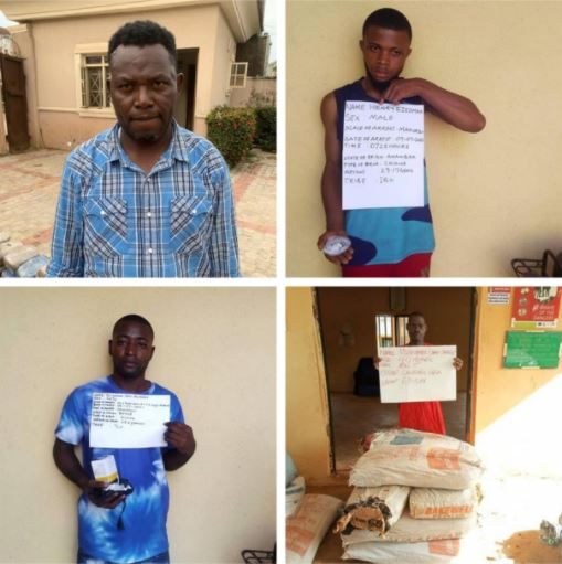 Notorious Interstate Druglords Busted By NDLEA In Kogi, Nasarawa, Benue (Photos)