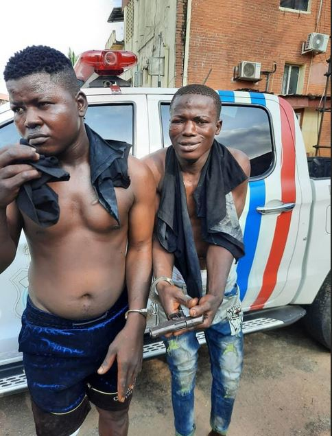 Lagos RRS Arrests Two Robbery Suspects At Oshodi, Recovers Locally Made Pistols With Charms