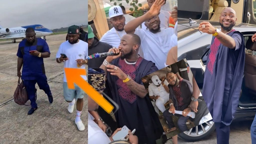 How Davido, D'Banj, Kcee Other Top Celebrities Shut Down Oba For The Burial Of Obi Cubana's Mother