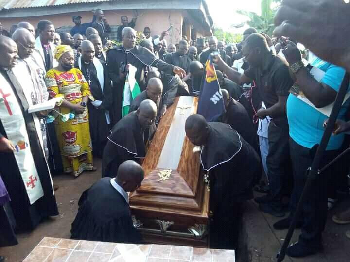 Tears Flow Bitterly As Pastor Who Was Assassinated By Gunmen Is Laid To Rest In Taraba (Photos)