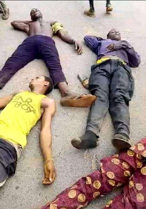 5 Suspected Kidnappers Burnt To Death In Edo (Graphic Photos)