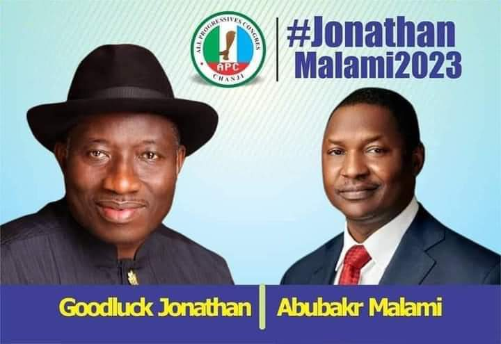 Malami Reacts to Presidential Poster Of Him And Goodluck Jonathan