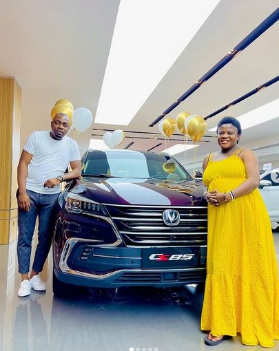 Sex Therapist, Angela Nwosu, Receives SUV From Husband As Push Gift (Photos)