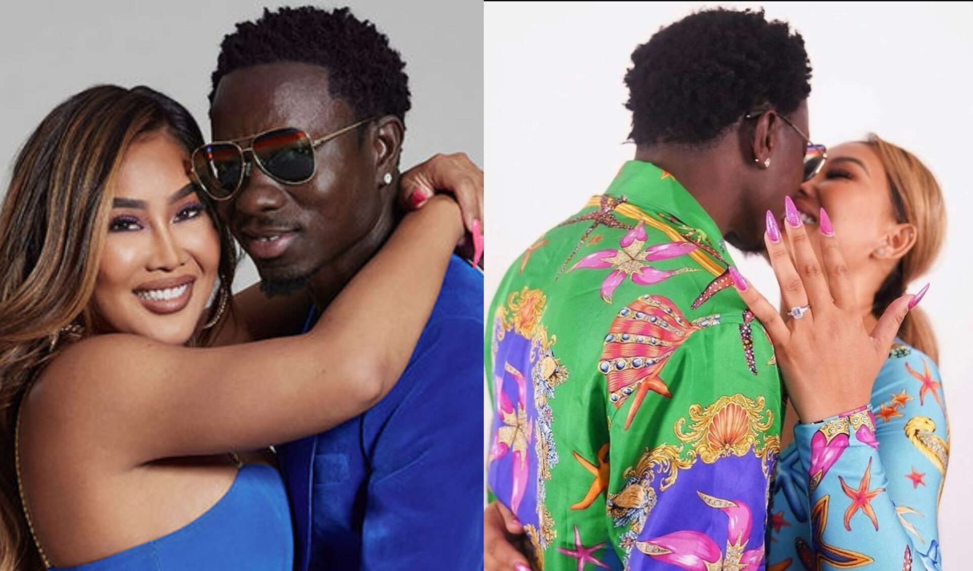 Comedian Michael Blackson Surprises Girlfriend, Proposes to Her During Interview (Video)