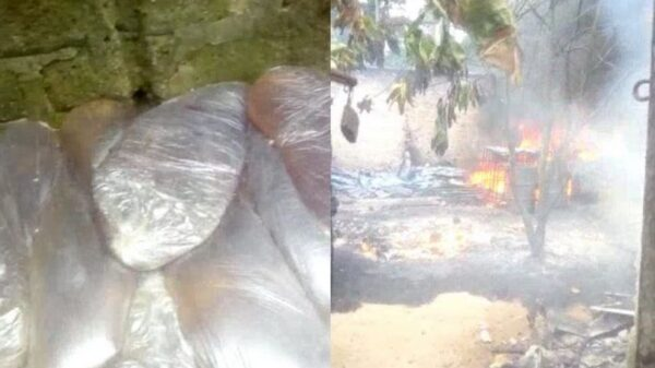 One Badly Injured As Fire Breaks Out In Illegal Refining Site In Rivers Community