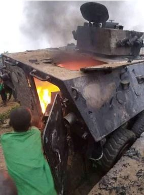 Three Killed, Military Armoured Vehicle Set Ablaze As Bandits Attack Zamfara Community