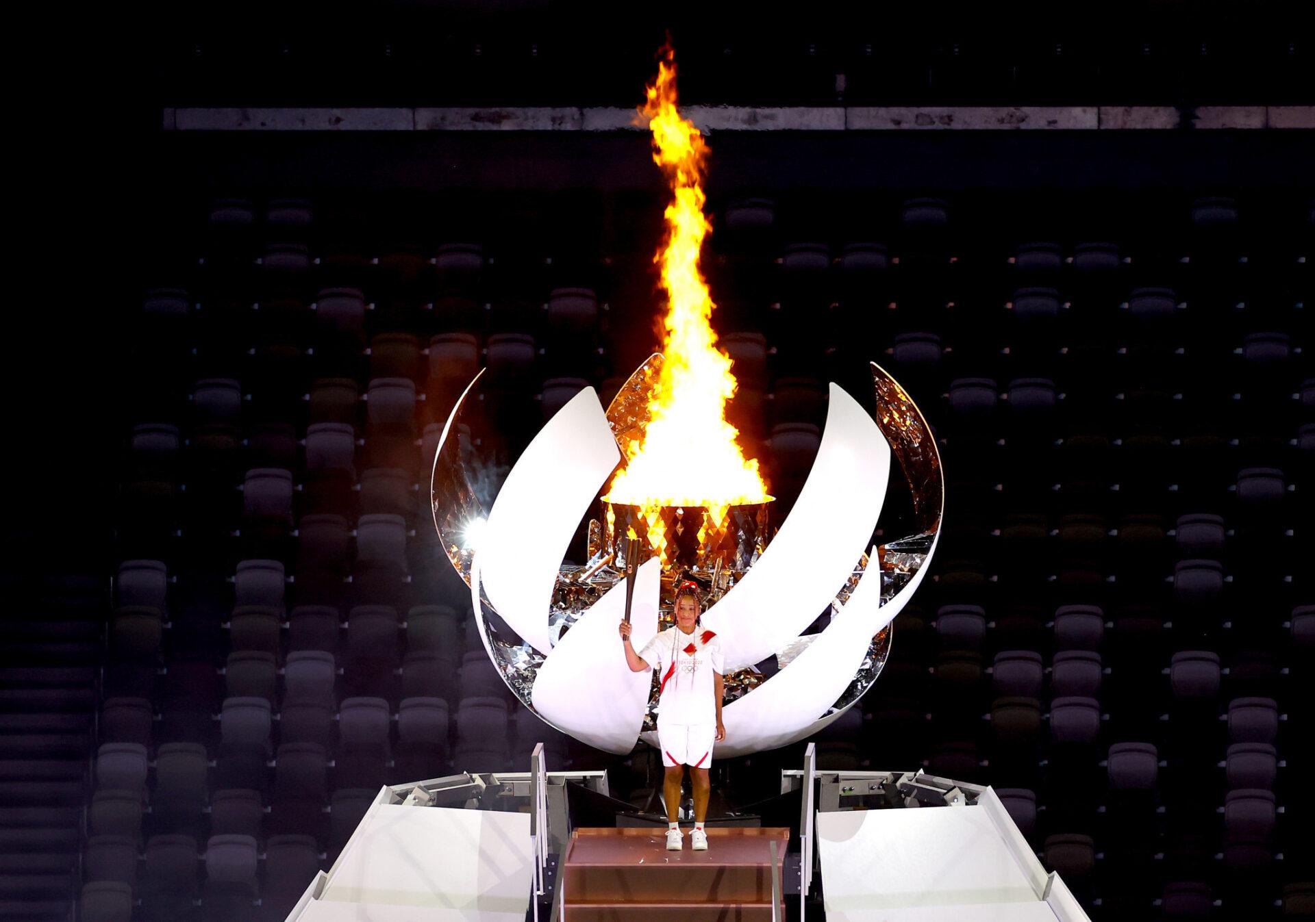 Naomi Osaka Lights Olympic Cauldron As Tokyo Games Open (Photos)