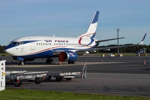 Drama As Passengers Disembark As Air Peace Aircraft Tyre Bursts At Ilorin Airport