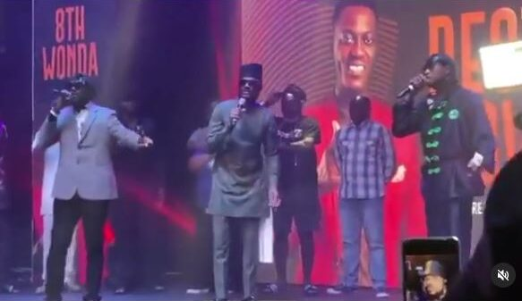 Wow! Blackface and 2Baba Squash Their Age-Long Beef As 'Plantashun Boiz' Perform At Sound Sultan's Memorial