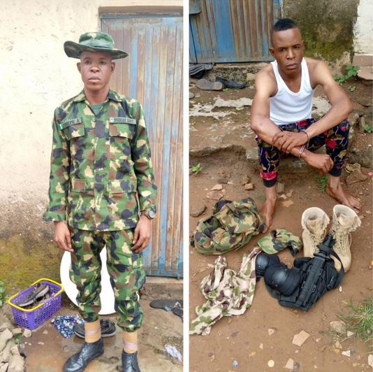 Fake Naval Officer Arrested For Defrauding And Assaulting PoS Operators In Nasarawa (Photos)